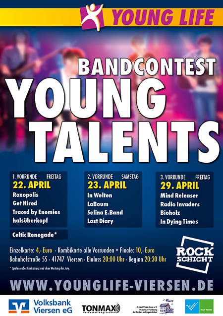 YOUNG TALENTS 2016 - Bands gesucht